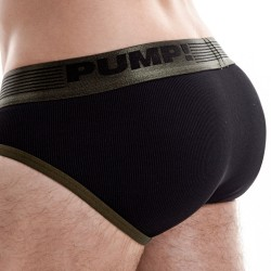 Ribbed Brief - Military Green