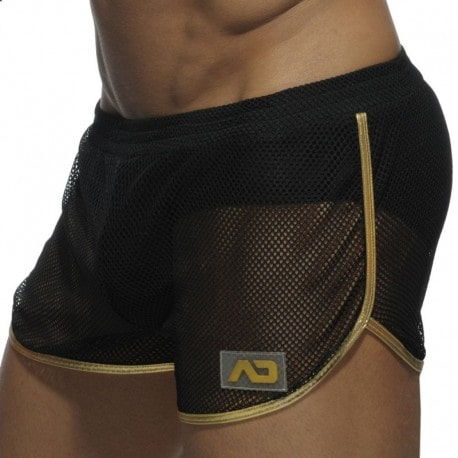 Addicted Short Rocky Combi Metallic Noir - Or