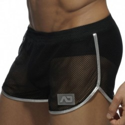 Addicted Short Rocky Combi Metallic Noir - Argent