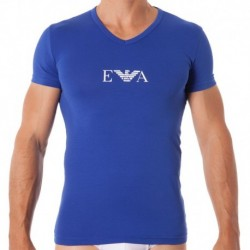 T-Shirt Stretch Cotton Bleu Electrique