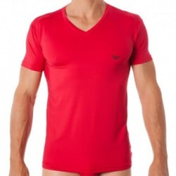 T-Shirt Essential Microfiber Rouge