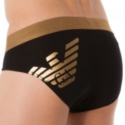 Metal Eagle Brief - Black