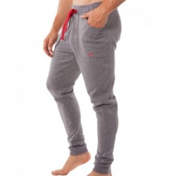 Pantalon Basic French Terry Gris Chiné