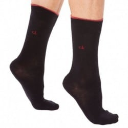 2-Pack Two Bar Stripe Socks - Black