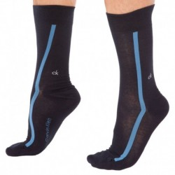 Rubber Logo Clock Socks - Navy