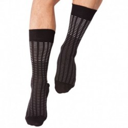 All Over Tiles Socks - Black