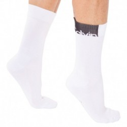 Logo Patch Socks - White