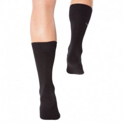 Cotton Flat Knit Socks - Black