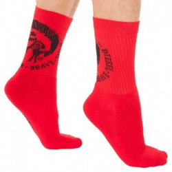 Chaussettes Mohican Rouges
