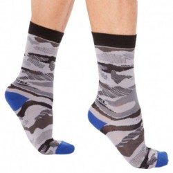Chaussettes Camouflage Grises