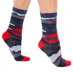 Camouflage Socks - Navy