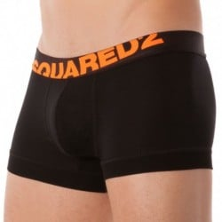 DSQUARED2 Boxer 154 Modal Noir - Orange Fluo