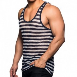 Nautical Stripe Tank Top - Navy - White