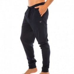 Interlock Texture Cotton Pants - Navy