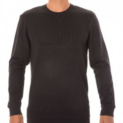 Calvin Klein Embroidered Logo Sweatshirt - Black