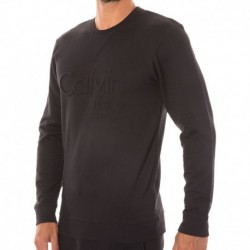 Calvin Klein Sweat-Shirt Embroidered Logo Noir