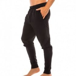 Embroidered Logo Jogger Pants - Black