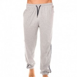 Cotton Brushed Jersey Pants - Grey