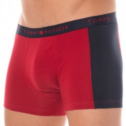 Modern Classic Cotton Boxer - Red - Navy