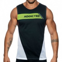 Addicted Dots Tank Top - Black