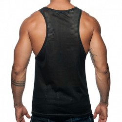 Geoback Tank Top - Grey - Black