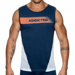 Addicted Dots Tank Top - Navy