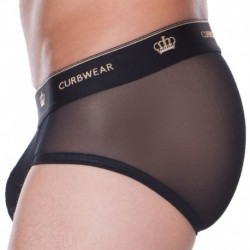 Crown Mesh Brief - Black
