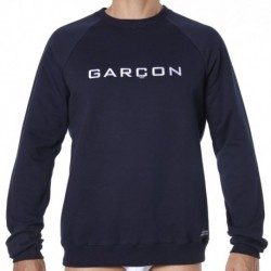 Sweatshirt - Navy - White