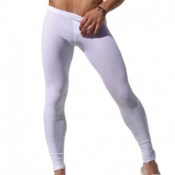 Grid Legging Pants - White