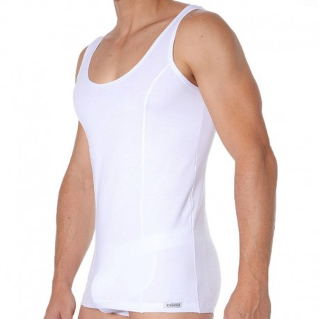 Doreanse Essential Muscle Tank Top - White