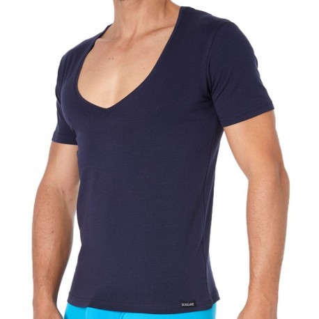 Doreanse Essential V-Neck T-Shirt - Navy
