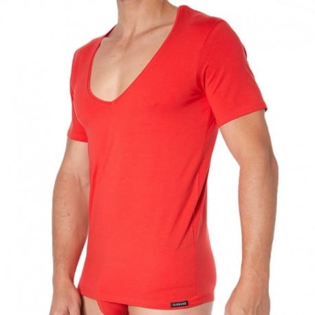 Doreanse T-Shirt Essential Col V Rouge