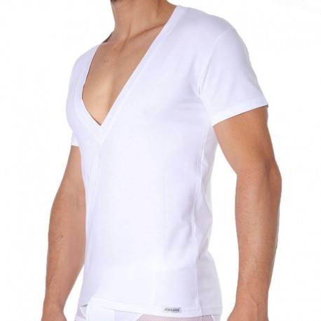 Doreanse Essential Super Low V-Neck T-Shirt - White