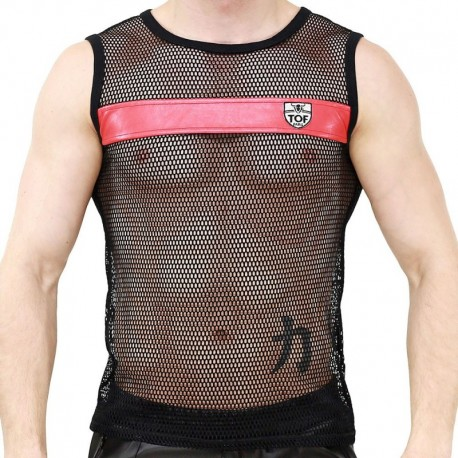 TOF Spartacus Tank Top - Black - Red