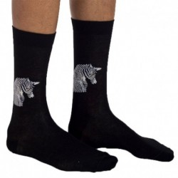 Jipépé Zebra Socks - Black