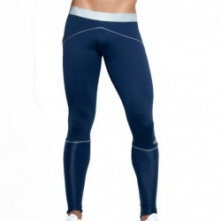 Tech Metallic Tights - Navy