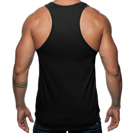 Addicted Military Tank Top - Black