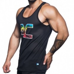 California Sports Mesh Tank Top - Black