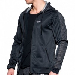 ES Collection Metallic Mesh Jacket - Black - Silver