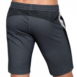 ES Collection Bermuda Metallic Mesh Noir - Argent