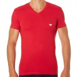 Shiny Logo Band T-Shirt - Tango Red
