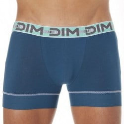 Lot de 2 Boxers 3D Flex Stay & Fit Gris Plomb - Bleu Pétrole