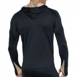 Tech Metallic Sweatshirt - Black