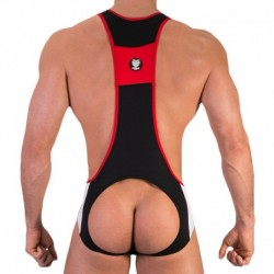 Areg Singlet - Black - Red