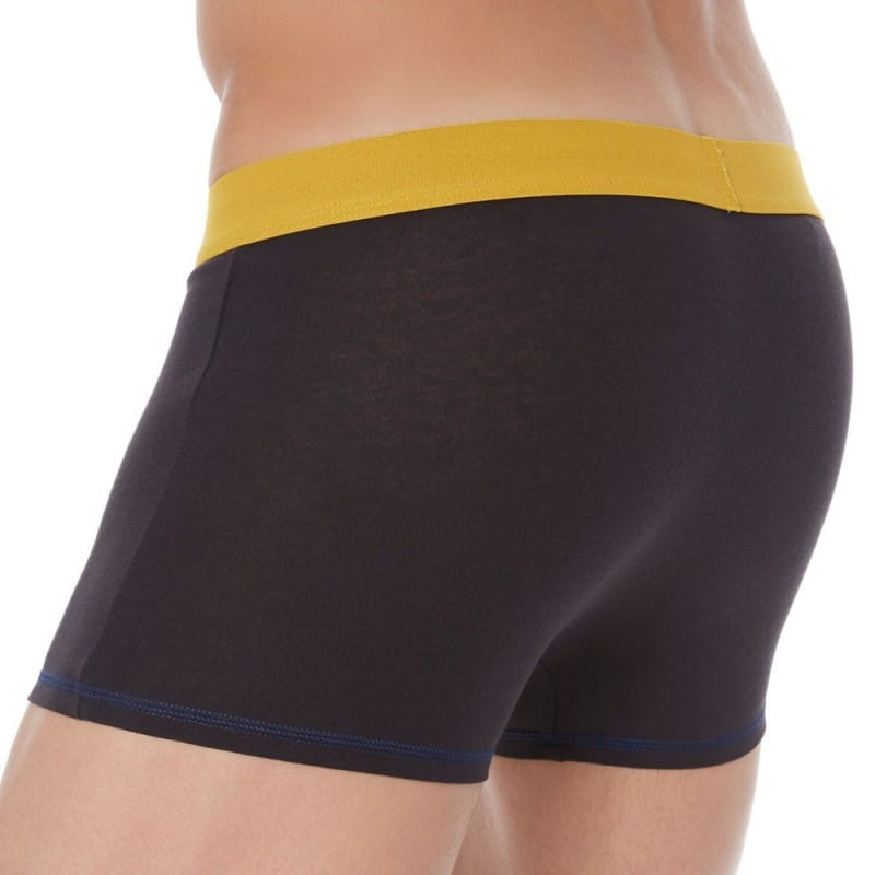 2-Pack Mix and Colors Boxers - Black with Yellow and Blue Waistbands