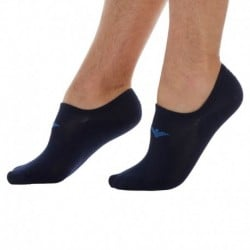 Stretch Cotton Invisible Socks - Navy