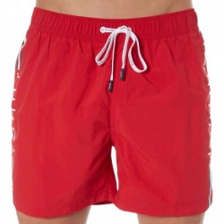 Short de Bain Logo Rouge