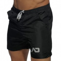 Short de Bain Long Basic Noir