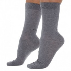 3-Pack Plain Socks - Grey