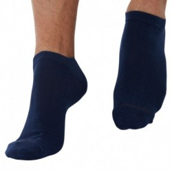 3-Pack Plain Bobby Socks - Navy